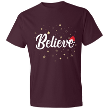 Load image into Gallery viewer, Designs by MyUtopia Shout Out:Believe - Lightweight Unisex T-Shirt,Maroon / S,Adult Unisex T-Shirt