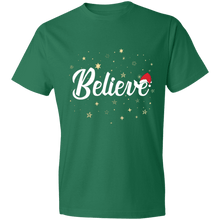 Load image into Gallery viewer, Designs by MyUtopia Shout Out:Believe - Lightweight Unisex T-Shirt,Kelly Green / S,Adult Unisex T-Shirt