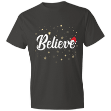 Load image into Gallery viewer, Designs by MyUtopia Shout Out:Believe - Lightweight Unisex T-Shirt,Smoke / S,Adult Unisex T-Shirt