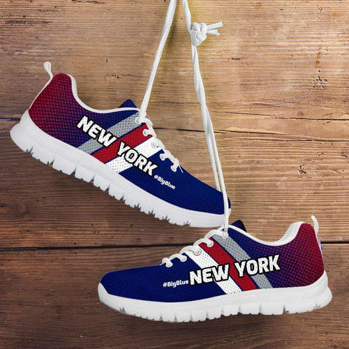 Designs by MyUtopia Shout Out:#BigBlue New York Fan Running Shoes v2,Kid's / 11 CHILD (EU28) / Blue/Red,Running Shoes