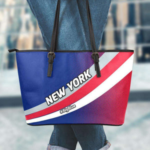 Designs by MyUtopia Shout Out:#BigBlue New York Giants Fan Faux Leather Totebag Purse,Large (11 x 17 x 6) Inches / Red/Blue,tote bag purse
