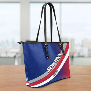 Designs by MyUtopia Shout Out:#BigBlue New York Giants Fan Faux Leather Totebag Purse