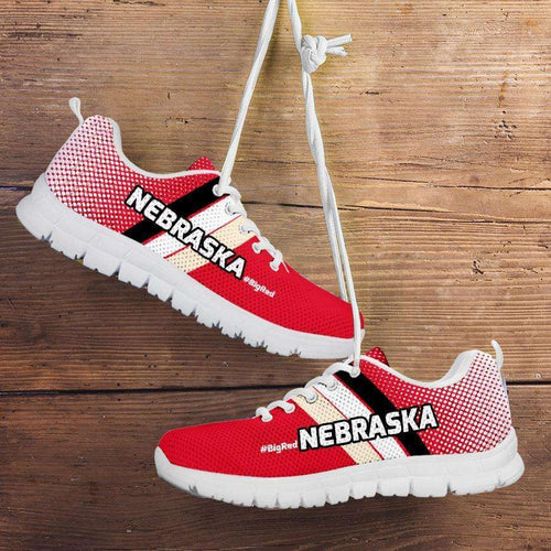 Designs by MyUtopia Shout Out:#BigRed Nebraska Fan Running Shoes