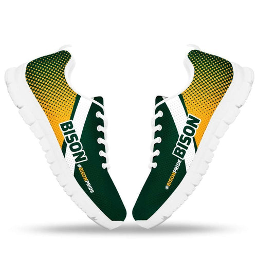 Designs by MyUtopia Shout Out:#BISONPRIDE North Dakota Fan Running Shoes
