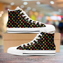 Load image into Gallery viewer, Designs by MyUtopia Shout Out:Bitmap Fruit Womens Canvas High Top Shoes