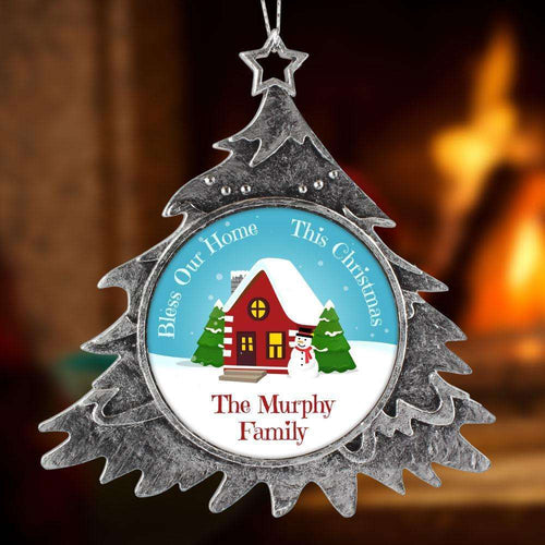 Designs by MyUtopia Shout Out:Bless Our Home Personalized Christmas Keepsake Ornament