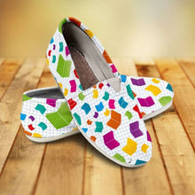 Load image into Gallery viewer, Designs by MyUtopia Shout Out:Books All Over Print Casual Canvas Slip on Shoes Women's Flats