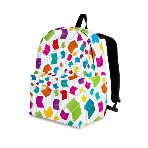 Designs by MyUtopia Shout Out:Books Backpack,Large (18 x 14 x 8 inches) / Adult (Ages 13+) / Multicolor,Backpacks