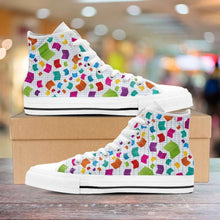Load image into Gallery viewer, Designs by MyUtopia Shout Out:Books Canvas High Top Shoes