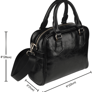 Designs by MyUtopia Shout Out:Books Faux Leather Handbag with Shoulder Strap