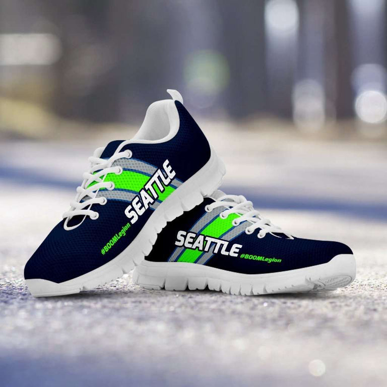 Designs by MyUtopia Shout Out:#BOOMLegion Seattle Fan Running Shoes