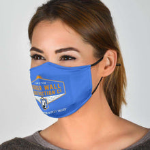 Load image into Gallery viewer, Designs by MyUtopia Shout Out:Border Wall Construction Company Trump Humor Adult Fabric Face Mask with Elastic Ear Loops