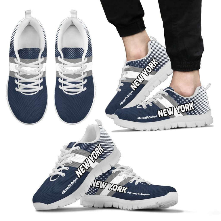 Designs by MyUtopia Shout Out:#BronxPinStripe New York Fan Running Shoes