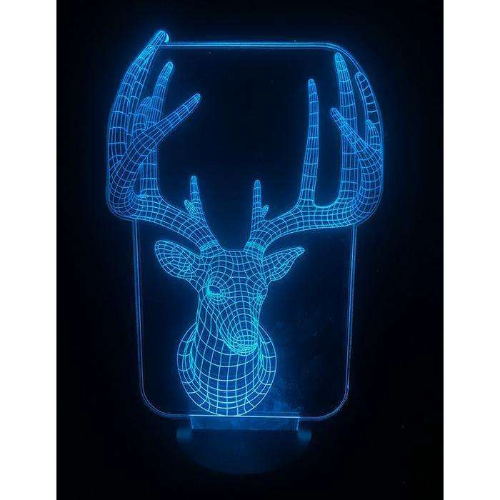 Designs by MyUtopia Shout Out:Buck - Deer USB Powered LED Night-light Lamp Glows in Multiple Colors