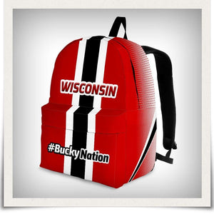 Designs by MyUtopia Shout Out:#BuckyNation Wisconsin Fan Backpack,Large (18 x 14 x 8 inches) / Adult (Ages 13+),Backpacks