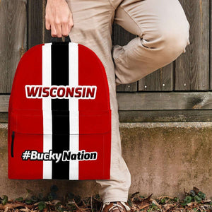 Designs by MyUtopia Shout Out:#BuckyNation Wisconsin Fan Backpack