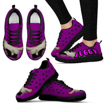Load image into Gallery viewer, Designs by MyUtopia Shout Out:Buggy The Cat Running Shoes,Womens / Womens US5 (EU35) / Purple,Running Shoes
