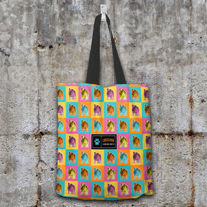 Designs by MyUtopia Shout Out:Bulldog Fabric Totebag Reusable Shopping Tote