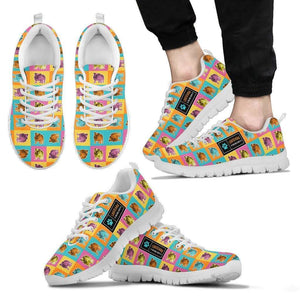 Designs by MyUtopia Shout Out:Bulldog Running Shoes,Mens / Mens US5 (EU38) / Multicolor,Running Shoes
