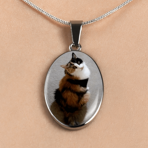 Designs by MyUtopia Shout Out:Calico Cat Sitting Pretty Handcrafted Necklace