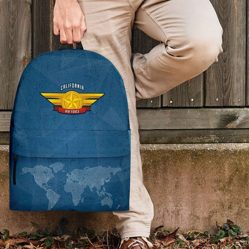 Designs by MyUtopia Shout Out:California Air Force Wings Backpack,Large (18 x 14 x 8 inches) / Adult (Ages 13+) / Blue,Backpacks