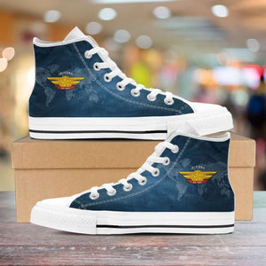 Designs by MyUtopia Shout Out:California Air Force Wings Canvas High Top Shoes