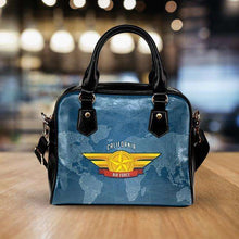 Load image into Gallery viewer, Designs by MyUtopia Shout Out:California Air Force Wings Faux Leather Handbag with Shoulder Strap
