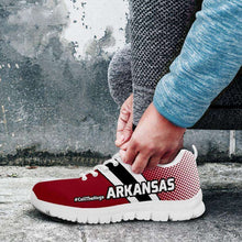 Load image into Gallery viewer, Designs by MyUtopia Shout Out:#CallTheHogs Arkansas Fan Running Shoes