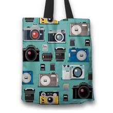 Load image into Gallery viewer, Designs by MyUtopia Shout Out:Camera Fabric Totebag Reusable Shopping Tote
