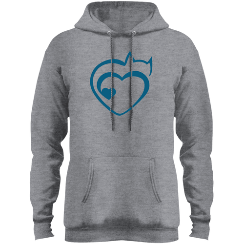 Designs by MyUtopia Shout Out:Cat Heart Premium Core Fleece Pullover Hoodie,Athletic Heather / S,Sweatshirts