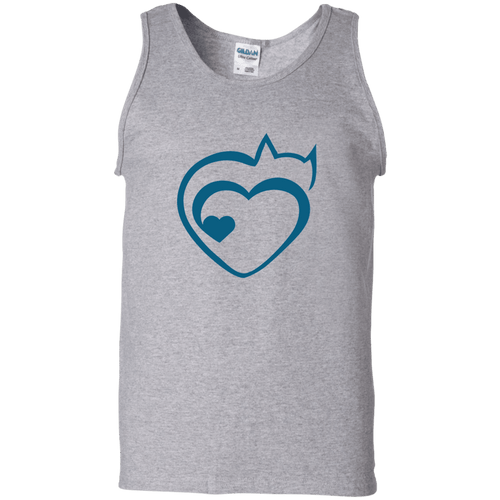 Designs by MyUtopia Shout Out:Cat Heart Ultra Cotton Unisex Tank Top,Sport Grey / S,Tank Tops