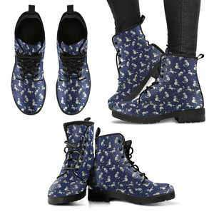 Designs by MyUtopia Shout Out:Cat Pattern 2 Handcrafted Boots