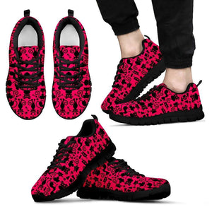 Designs by MyUtopia Shout Out:Cats in Pink Collage Running Shoes,Mens / Mens US5 (EU38) / Black/Pink,Running Shoes
