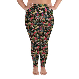 Designs by MyUtopia Shout Out:Cats Playing with Christmas Presents All-Over Print Plus Size Leggings,2XL,Yoga Leggings