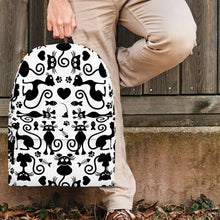 Load image into Gallery viewer, Designs by MyUtopia Shout Out:Cats White Backpack