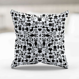 Designs by MyUtopia Shout Out:Cats White Pillowcase