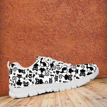 Load image into Gallery viewer, Designs by MyUtopia Shout Out:Cats White Running Shoes