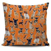 Load image into Gallery viewer, Designs by MyUtopia Shout Out:Chihuahua Collage Pillowcases,Orange,Pillowcases