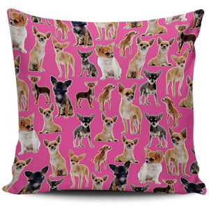 Designs by MyUtopia Shout Out:Chihuahua Collage Pillowcases,Pink,Pillowcases