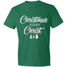 Load image into Gallery viewer, Designs by MyUtopia Shout Out:Christmas Begins with Christ - Lightweight Unisex T-Shirt,Kelly Green / S,Adult Unisex T-Shirt
