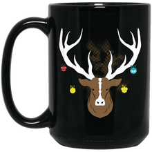 Load image into Gallery viewer, Designs by MyUtopia Shout Out:Christmas Deer - Ceramic Coffee Mug - Black,15 oz / Black,Ceramic Coffee Mug