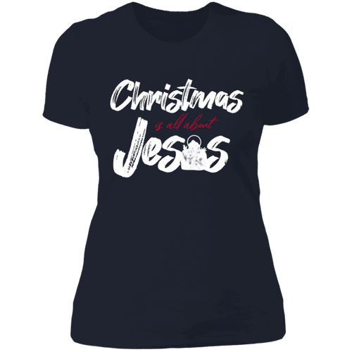 Designs by MyUtopia Shout Out:Christmas is All About Jesus - Ultra Cotton Ladies' T-Shirt,Midnight Navy / X-Small,Ladies T-Shirts