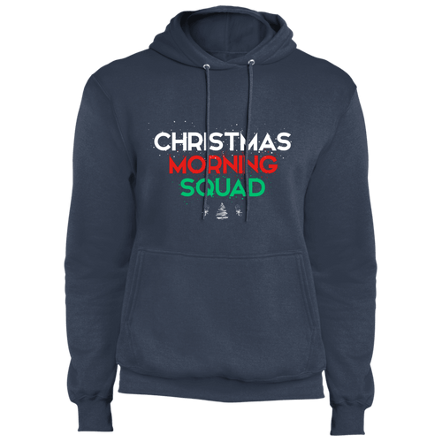 Designs by MyUtopia Shout Out:Christmas Morning Squad - Core Fleece Unisex Pullover Hoodie,Navy / S,Sweatshirts