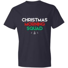 Load image into Gallery viewer, Designs by MyUtopia Shout Out:Christmas Morning Squad - Lightweight Unisex T-Shirt,Navy / S,Adult Unisex T-Shirt