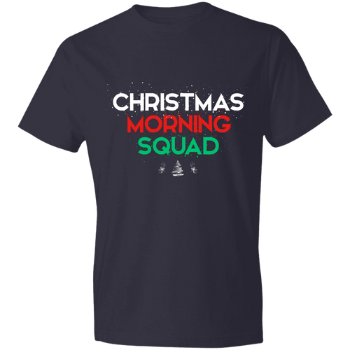 Designs by MyUtopia Shout Out:Christmas Morning Squad - Lightweight Unisex T-Shirt,Navy / S,Adult Unisex T-Shirt