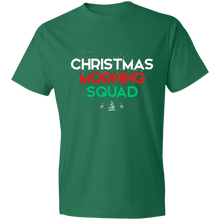 Load image into Gallery viewer, Designs by MyUtopia Shout Out:Christmas Morning Squad - Lightweight Unisex T-Shirt,Kelly Green / S,Adult Unisex T-Shirt