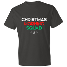 Load image into Gallery viewer, Designs by MyUtopia Shout Out:Christmas Morning Squad - Lightweight Unisex T-Shirt,Smoke / S,Adult Unisex T-Shirt