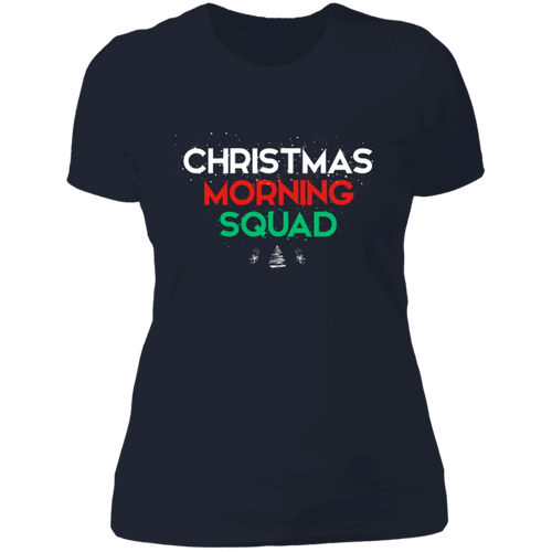 Designs by MyUtopia Shout Out:Christmas Morning Squad - Ultra Cotton Ladies' T-Shirt,Midnight Navy / X-Small,Ladies T-Shirts