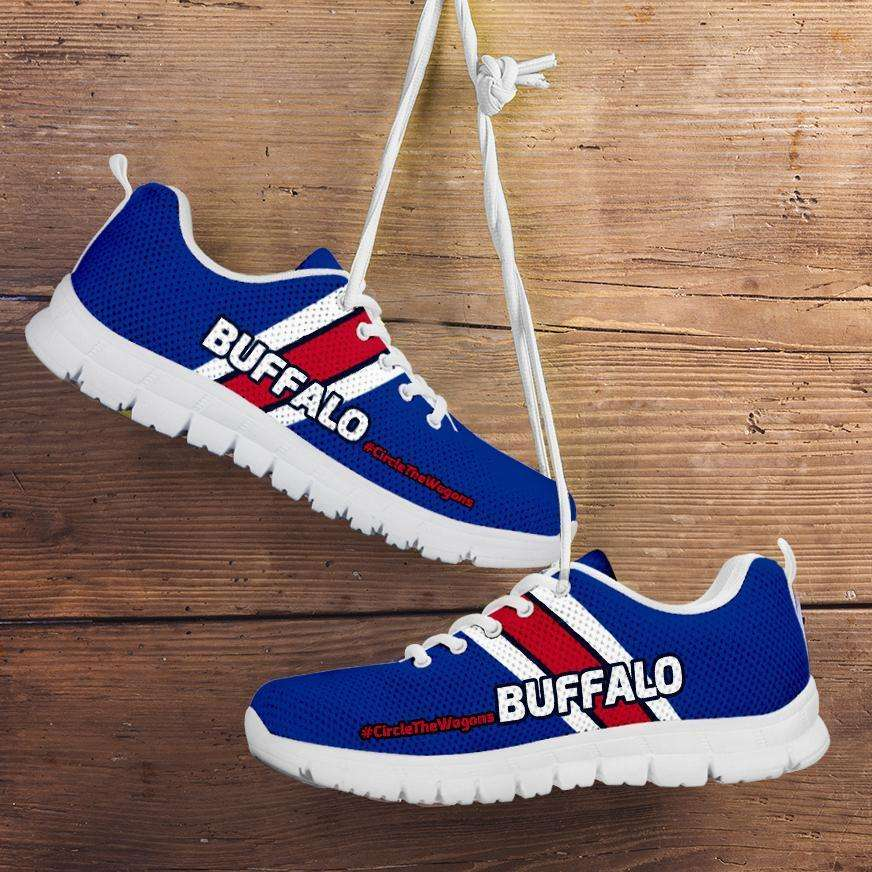Designs by MyUtopia Shout Out:#CircleTheWagons Buffalo Fan Running Shoes