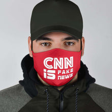 Load image into Gallery viewer, Designs by MyUtopia Shout Out:CNN is Fake News Trump Humor Adult Fabric Face Mask with Elastic Ear Loops